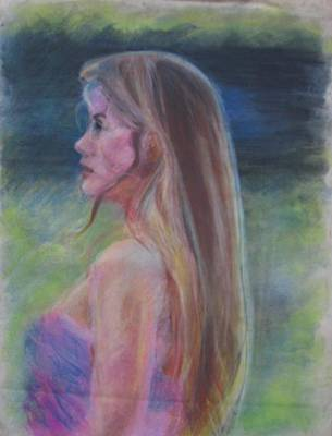 Drawing - Portrait Of Celeste by Anita Dale Livaditis