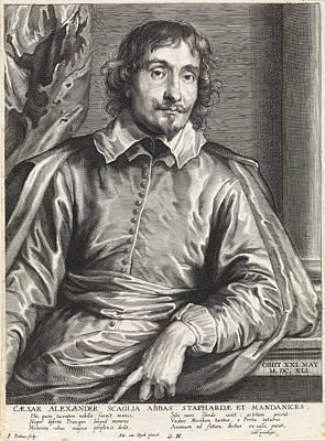 Portrait Of Cesare Alessandro Scaglia, Paulus Pontius Print by Quint Lox