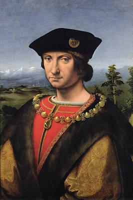 Portrait Of Charles Damboise 1471-1511 Marshal Of France Oil On Panel Art Print by Antonio da Solario