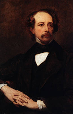 Famous Literature Painting - Portrait Of Charles Dickens by Ary Scheffer