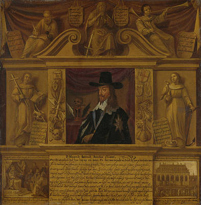 Portrait Of Charles I, King Of England, In A Frame Art Print