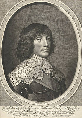 Portrait Of Charles Louis, Accept Prince Of The Palatinate Art Print by Willem Jacobsz. Delff