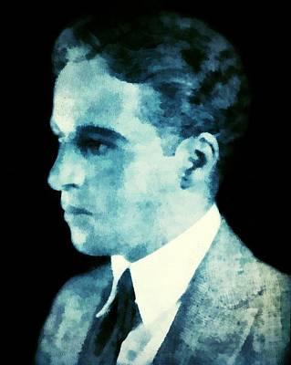 Digital Art - Portrait Of Charlie Chaplin As A Young Man by Charmaine Zoe