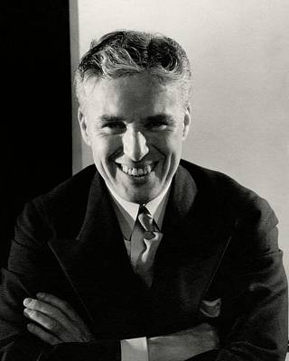 Crosses Photograph - Portrait Of Charlie Chaplin by Edward Steichen