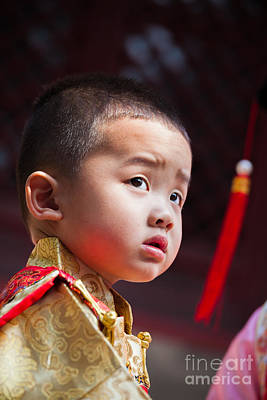 China Photograph - Portrait Of Chinese Child In Traditional Dress by Matteo Colombo