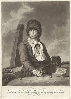 Sling Drawing - Portrait Of Christiaan Cornelis, Charles Howard Hodges by Charles Howard Hodges And William Alexander Keel