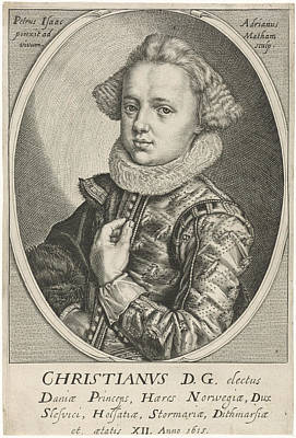 Norway Drawing - Portrait Of Christian Of Denmark And Norway by Adriaen Matham