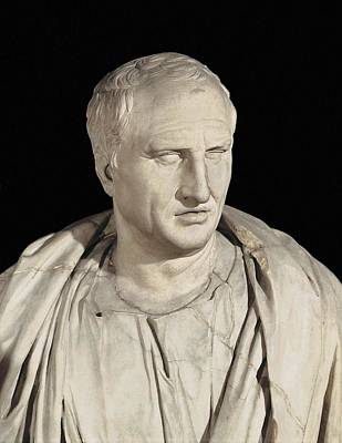 Statue Portrait Photograph - Portrait Of Cicero. Ca.   50 Bc. Roman by Everett