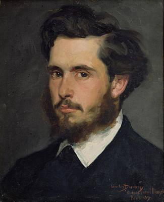Painter Photograph - Portrait Of Claude Monet 1840-1926 1867 Oil On Canvas by Charles Emile Auguste Carolus-Duran
