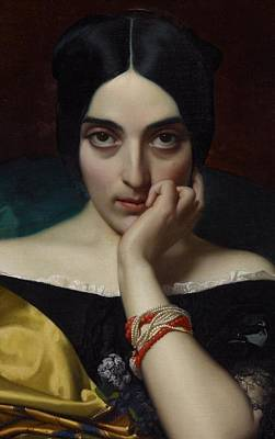 Portrait Of Clementine Art Print by Henri Lehmann