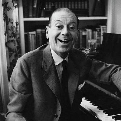 Book Jacket Photograph - Portrait Of Cole Porter Sitting At His Piano by Frances Mclaughlin-Gill