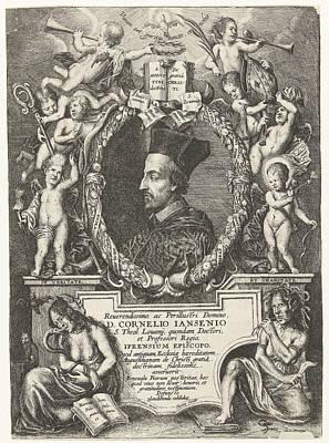 Bishop Drawing - Portrait Of Cornelis Jansenius, Bishop Of Ypres Belgium by Philip Fruytiers