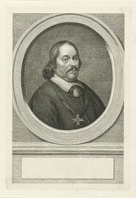 Portrait Of Cornelis Lampsins, Jacob Houbraken Art Print