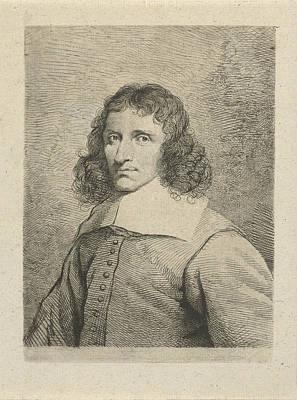 Self-portrait Drawing - Portrait Of Cornelis Van Dalen, Johannes Pieter De Frey by Johannes Pieter De Frey And Cornelis Van Dalen