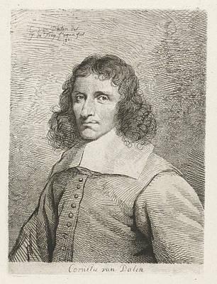 Self-portrait Drawing - Portrait Of Cornelis Van Dalen, Johannes Pieter De Frey by Johannes Pieter De Frey