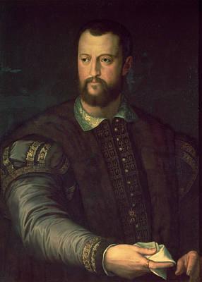 Portrait Of Cosimo I De Medici 1519-74 1559 Oil On Canvas Art Print