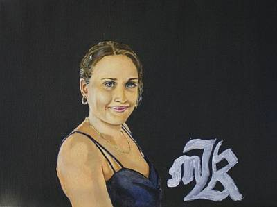 Painting - Portrait Of Countess Avital  by Marwan  Khayat