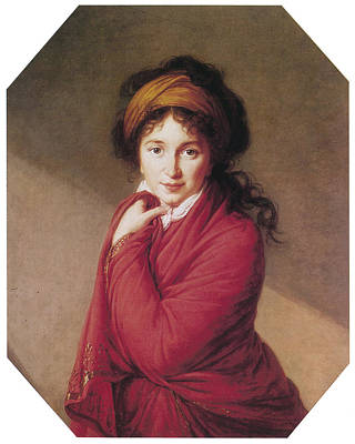 Portrait Of Countess Golovin Print by Marie Louise Elisabeth Vigee-Lebrun