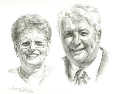 Drawing - Portrait Of Couple. Commission. by Alena Nikifarava