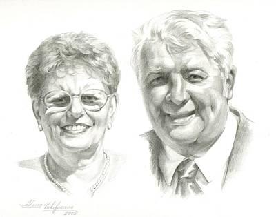 Portrait Of Couple. Commission. Art Print