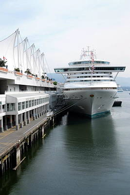 Photograph - Portrait Of Cruise Ship At Canada Place by Devinder Sangha