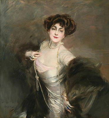 Portrait Of Diaz Albertini Art Print by Giovanni Boldini