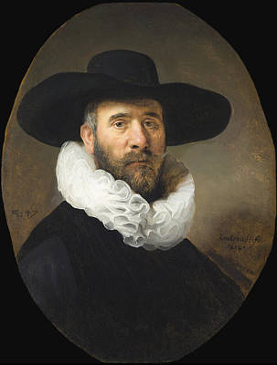 Painting - Portrait Of Dirck Jansz Pesser by Celestial Images