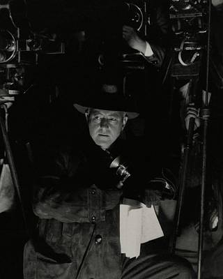 Suede Photograph - Portrait Of Director Cecil B. Demille by Edward Steichen