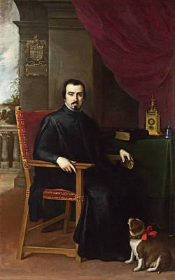 Portrait Of Don Justino De Neve Art Print by Bartolome Esteban Murillo