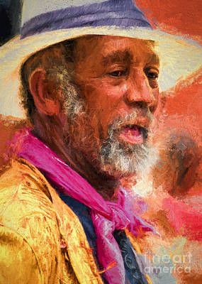 Photograph - Portrait Of Dr. Luv - Painting by Kathleen K Parker