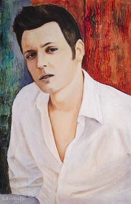 Painting - Portrait Of Dustin Roadcap 2014 by Ron Richard Baviello