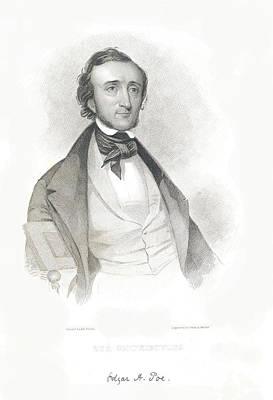 Edgar Allan Poe Drawing - Portrait Of Edgar Allan Poe by Philip Ralley