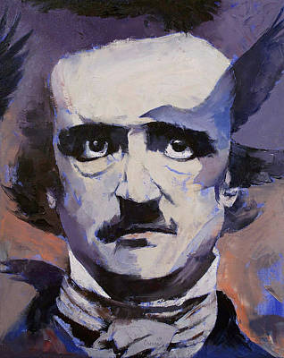 Lowbrow Painting - Edgar Allan Poe by Michael Creese