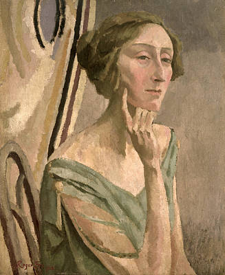Bloomsbury Painting - Portrait Of Edith Sitwell , 1915 by Roger Eliot Fry