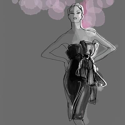 Digital Art - Portrait Of Elegant Woman In Glamorous by Jan Richter