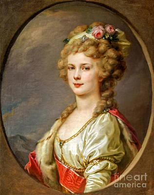 Paint Photograph - Portrait Of Elena Pavlovna Of Russia  by Viktor Birkus