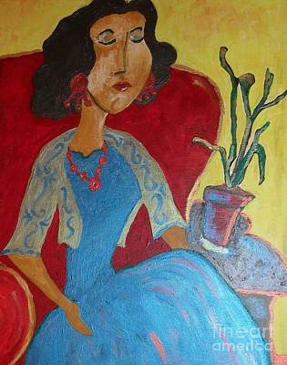 Painting - Portrait Of Elise by Iris Gelbart