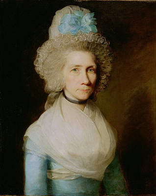 Shawl Painting - Portrait Of Elizabeth Caldwell by Gilbert Stuart