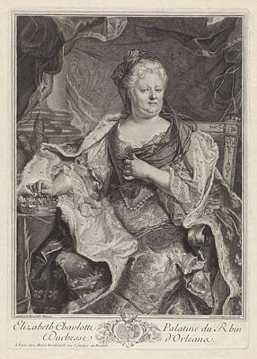 Portrait Of Elizabeth Charlotte Of The Palatinate Art Print by Louise Magdeleine Horthemels