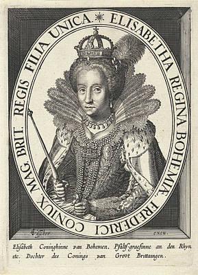 Portrait Of Elizabeth I Tudor, Anonymous Print by Anonymous And Claes Jansz. Visscher (ii)
