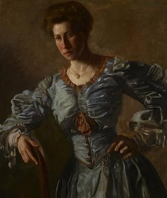 Portrait Of Elizabeth L Burton Art Print by Thomas Cowperthwait Eakins