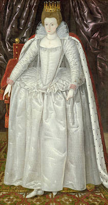 Tiara Painting - Portrait Of Elizabeth Vernon, Countess by English School