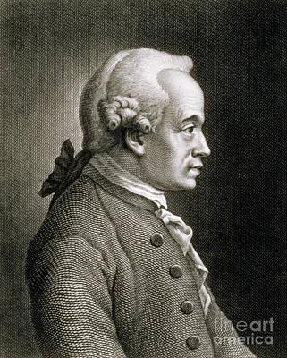 Portrait Of Emmanuel Kant Art Print by French School