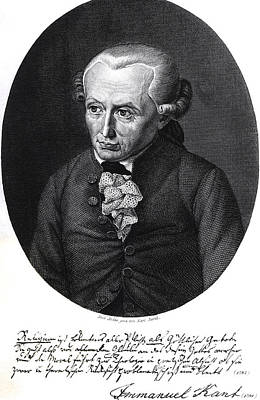 Portrait Of Emmanuel Kant  Art Print by German School