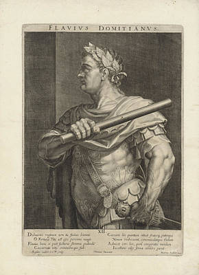 Portrait Of Emperor Domitian, Aegidius Sadeler Print by Quint Lox