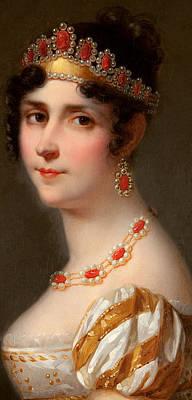 Curly Hair Painting - Portrait Of Empress Josephine by Jean Louis Victor Viger du Vigneau