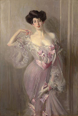 Portrait Of Ena Wertheimer Art Print by Giovanni Boldini