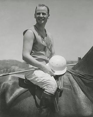 Eric Photograph - Portrait Of Eric Pedley Sitting On A Horse by Edward Steichen