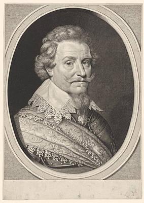 Fingerprint Drawing - Portrait Of Ernst Casimir, Count Of Nassau-dietz by Willem Jacobsz. Delff And Michiel Jansz Van Mierevelt