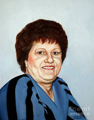 Painting - Portrait Of Essie Simon  by Christopher Shellhammer
